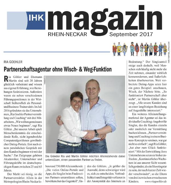 Partnervermittlung raum frankfurt